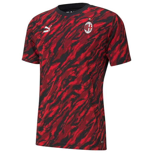 ACミラン ICONIC MCS グラフィック半袖Tシャツ  758639-01 レッド×ブラック