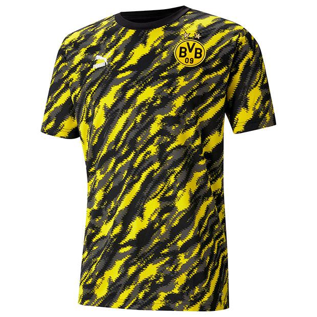 ドルトムント ICONIC MCS グラフィック半袖Tシャツ  758589-01 ブラック×イエロー