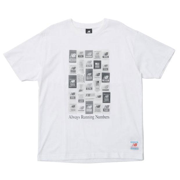 NB Essentials ブランドラベルパック 半袖Tシャツ  mt11526-wt ホワイト