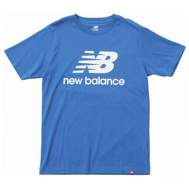 エッセンシャルズスタックドロゴ半袖Tシャツ  mt01575-wab ウェーブブルー