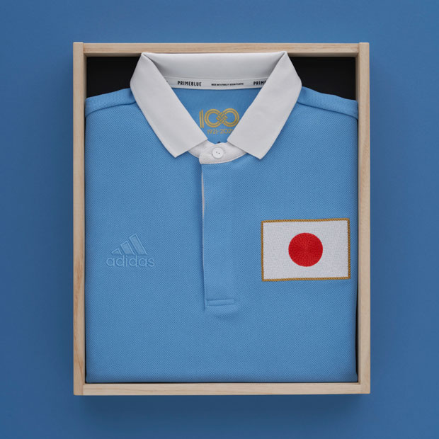 サッカー日本代表 100周年アニバーサリー オーセンティック ユニフォーム 半袖 パッケージ付き  hmw58-fz6751