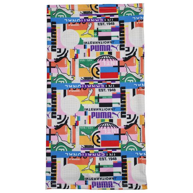 マルチスカーフ AOP 2  054119-01 プーマブラック×AOP