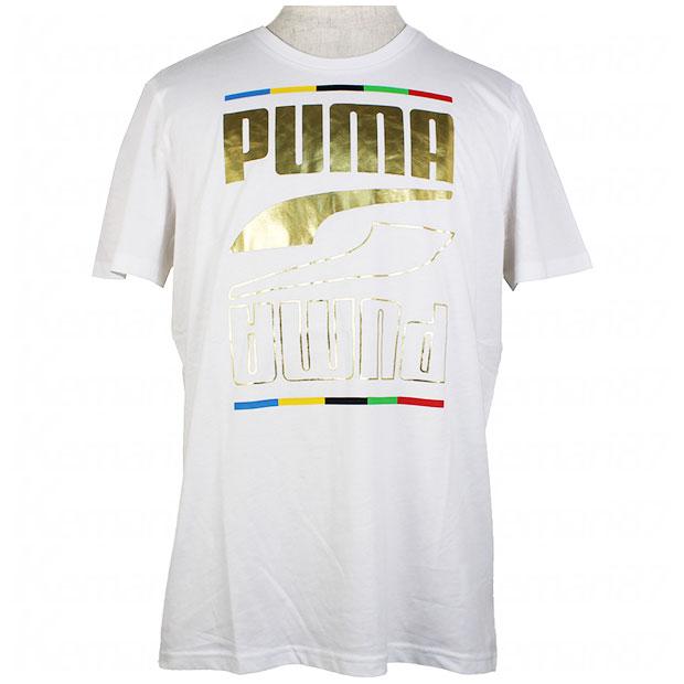 REBEL 5 CONTINENTS 半袖Tシャツ  585299-02 プーマホワイト