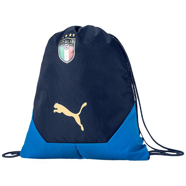 イタリア代表 FIGC ファイナル ジムサック  077065-02 ネイビー×ブルー