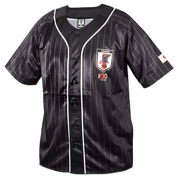日本代表 JFA100周年記念 半袖応援シャツ  100th-jfa-o-blk ブラック