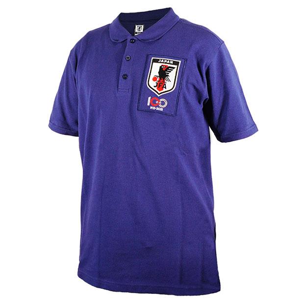 日本代表 JFA100周年記念 半袖ポロシャツ  100th-jfa-polo-blu JFAブルー