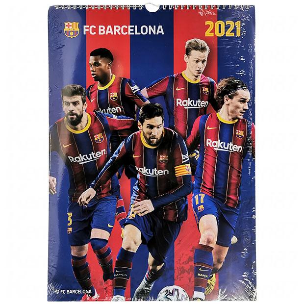 FCバルセロナ 2021年 壁掛けカレンダー  fcb2021e