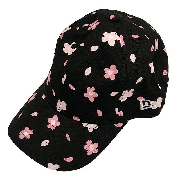ジュニア Youth 9TWENTY クロスストラップ キャップ 桜 オールオーバープリント  12325570-blk ブラック