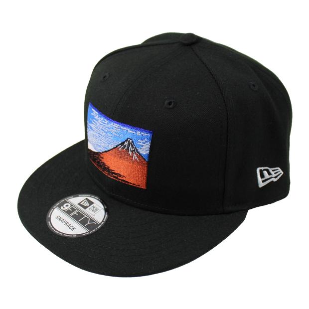 9FIFTY 浮世絵 赤富士  12326144-blk ブラック