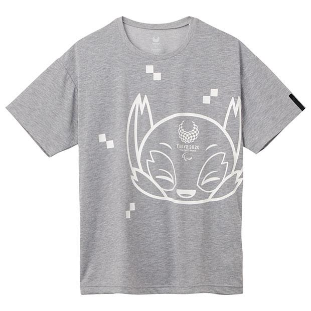 半袖Tシャツ 東京2020パラリンピックマスコット  2033a205-020 グレーモク