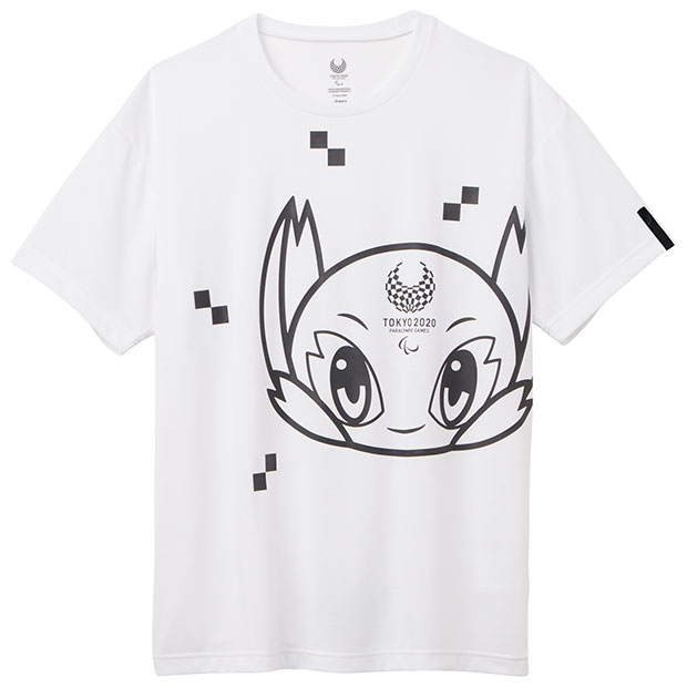半袖Tシャツ 東京2020パラリンピックマスコット  2033a205-100 ホワイト