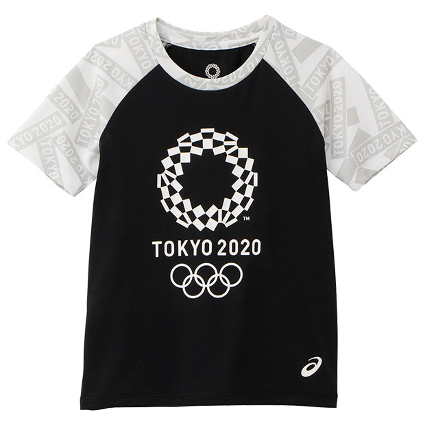 ジュニア Kids 半袖Tシャツ 東京2020オリンピックエンブレム  2034a343-001 ブラック