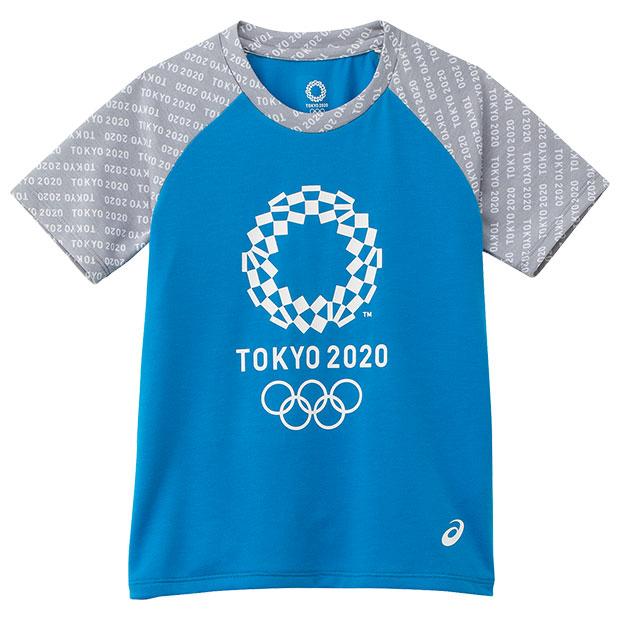 ジュニア Kids 半袖Tシャツ 東京2020オリンピックエンブレム  2034a343-401 ブルー