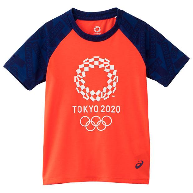 ジュニア Kids 半袖Tシャツ 東京2020オリンピックエンブレム  2034a343-601 サンライズレッド
