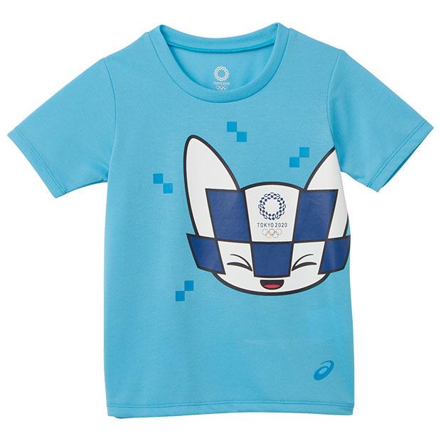 ジュニア Kids 半袖Tシャツ 東京2020オリンピックマスコット  2034a352-402 ブルー