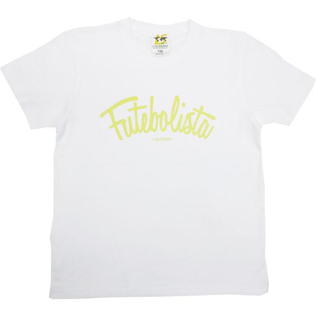ジュニア フッチボリスタ 半袖Tシャツ  22049ks-whtnye ホワイト×Nイエロー
