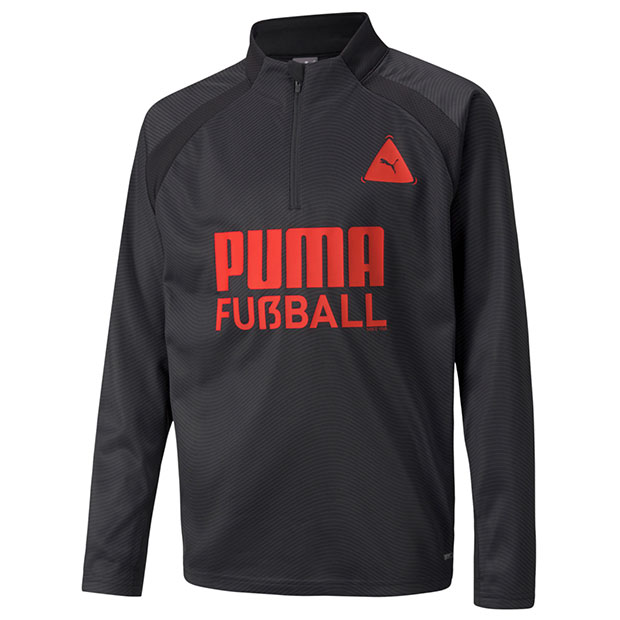 ジュニア FUSSBALL PARK トレーニングトップ JR  657801-03 プーマブラック