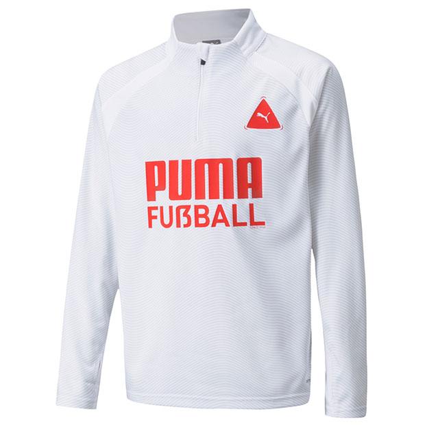 ジュニア FUSSBALL PARK トレーニングトップ JR  657801-04 プーマホワイト