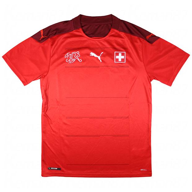 スイス代表 2020 ホーム 半袖レプリカユニフォーム  756476-01
