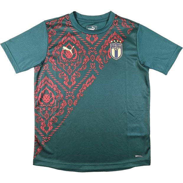 ジュニア イタリア代表 FIGC RENAISSANCE 半袖スタジアムシャツ  757344-10 ポンデローザパイン