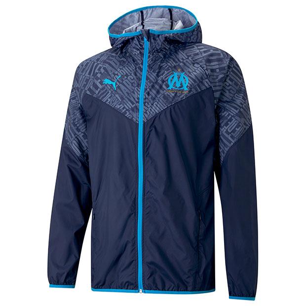 オリンピックマルセイユ ウォームアップジャケット  758652-01 ピーコート