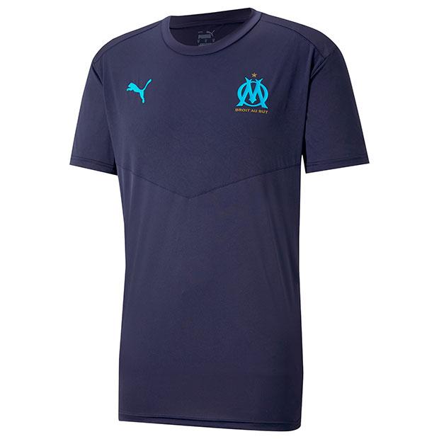 オリンピックマルセイユ ウォームアップ半袖Tシャツ  758653-01 ピーコート