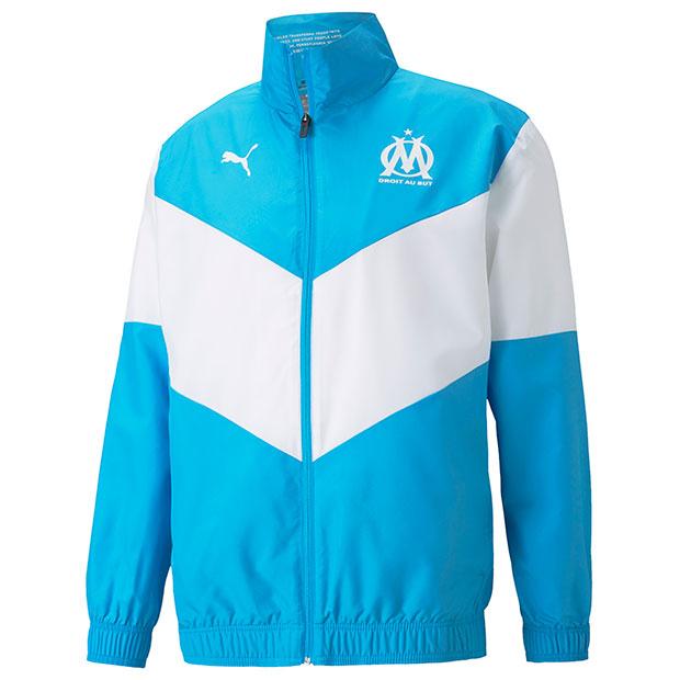 オリンピックマルセイユ プレマッチジャケット  759535-22 ブルーアズール