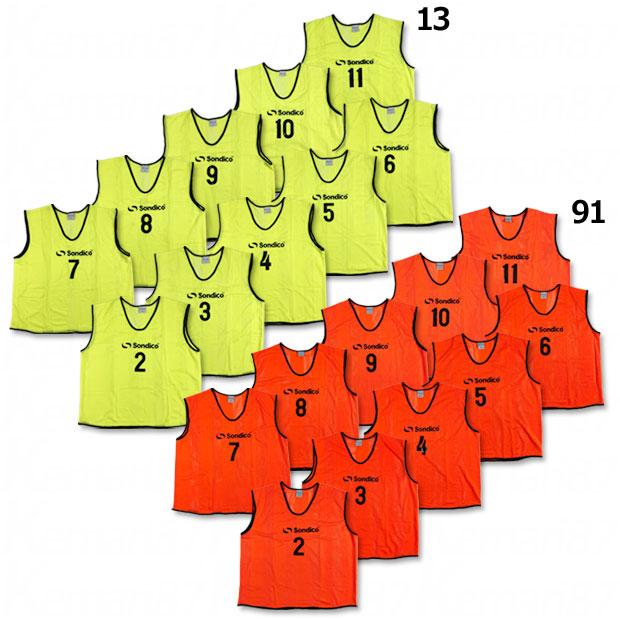 メッシュビブスセット 背番号・胸番号入り 10枚セット 840074-mark