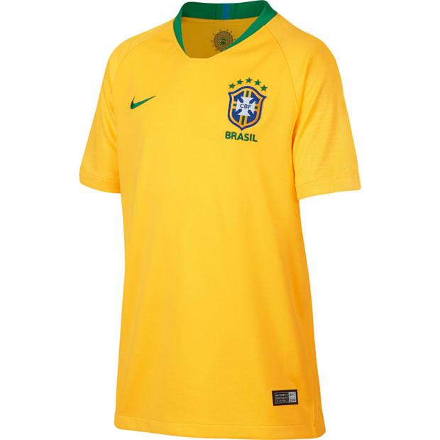 ジュニア ブラジル代表 2018 ホーム 半袖レプリカユニフォーム  893970-749