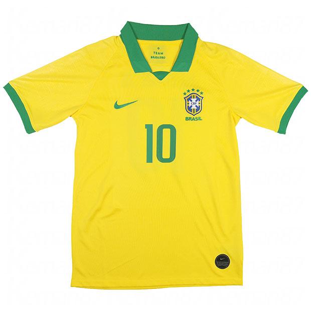 ブラジル代表 2019 ホーム 半袖レプリカユニフォーム 10.ネイマール aj5026-750-10-n