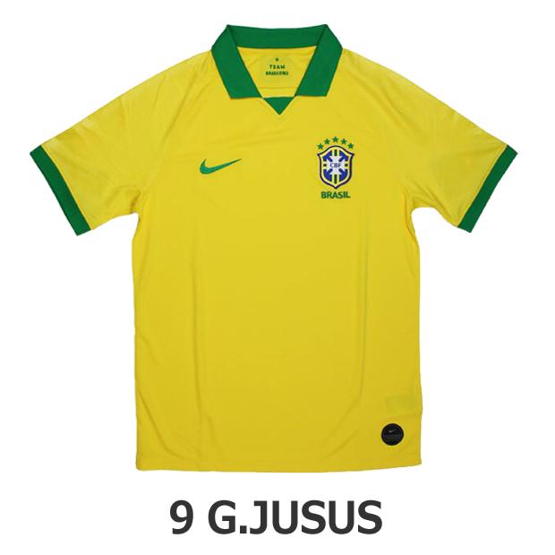 ブラジル代表 2019 ホーム 半袖レプリカユニフォーム 9.ガブリエル・ジェズス aj5026-750-9-g