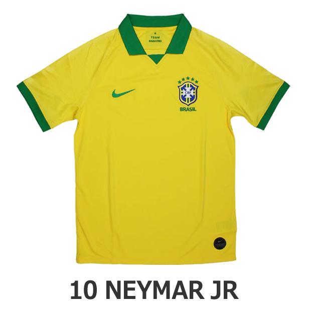 ジュニア ブラジル代表 2019 ホーム 半袖レプリカユニフォーム 10.ネイマール aq3852-749-10-n
