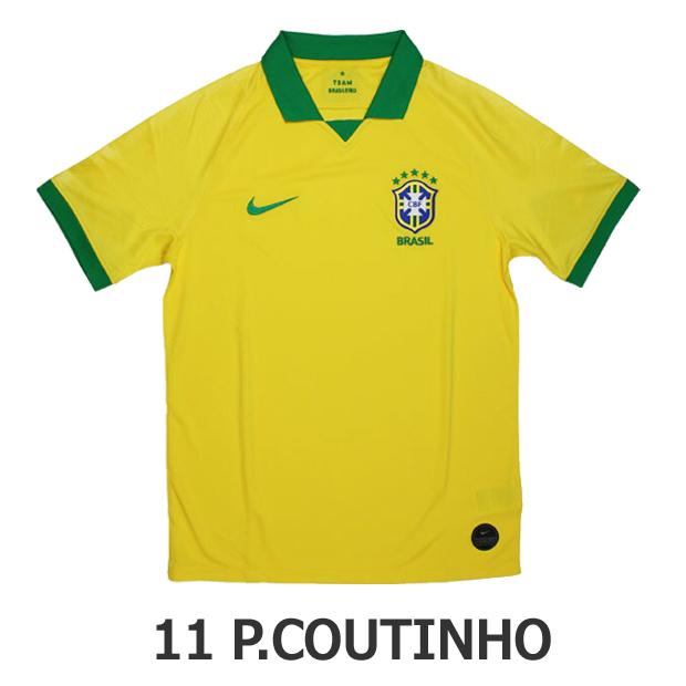 ジュニア ブラジル代表 2019 ホーム 半袖レプリカユニフォーム 11.フィリペ・コウチーニョ aq3852-749-11-p