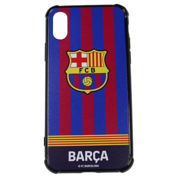 FCバルセロナ iPhone X用ハードカバー  bcn33649 ネイビー×レッド