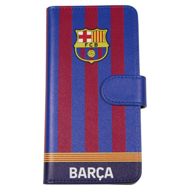 FCバルセロナ iPhone X用手帳型カバー  bcn33651 ネイビー×レッド