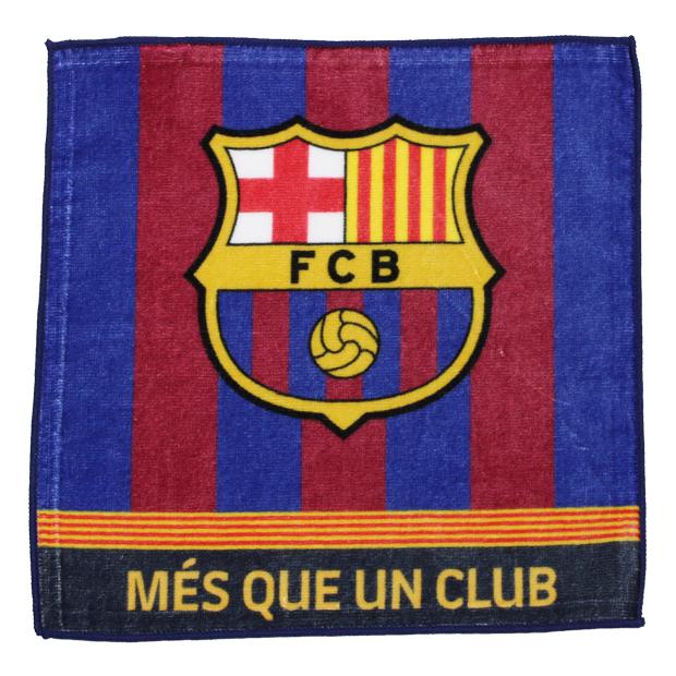 FCバルセロナ ハンドタオル  bcn33658 ネイビー×レッド