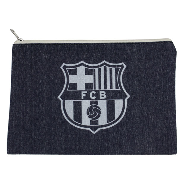 FCバルセロナ デニムポーチ  bcn33662 ネイビー