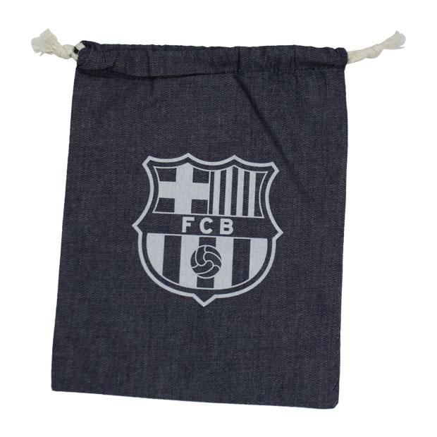 FCバルセロナ デニム巾着袋  bcn33663 ネイビー