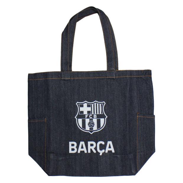 FCバルセロナ デニムトートバッグ  bcn33664 ネイビー