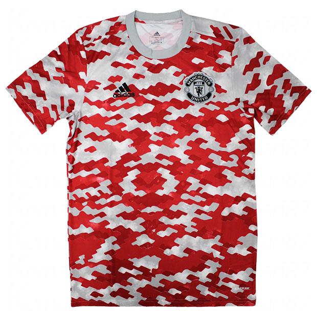 マンチェスターユナイテッド 半袖プレマッチシャツ  bo615-gr3914 パワーレッド