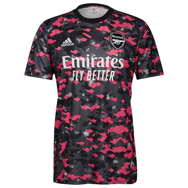 アーセナル 半袖プレマッチシャツ  bp578-gr4150 ピンク×グレー