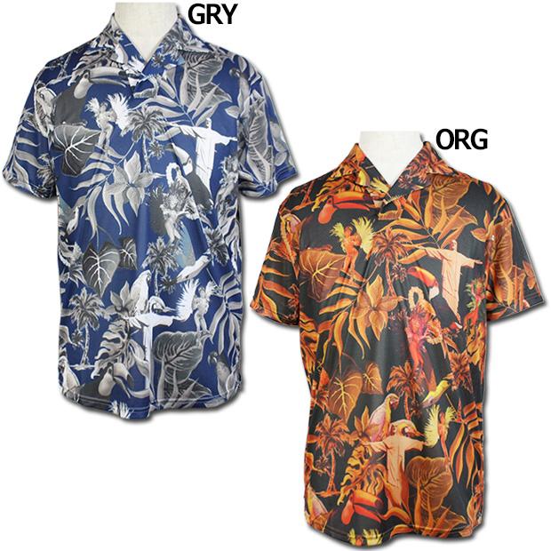 グラフィックプラロハシャツ  br0203