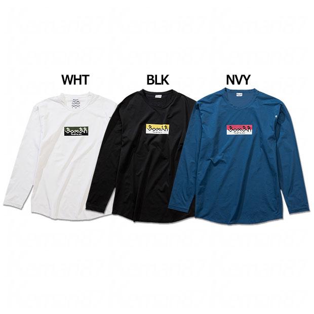 バイカラーロゴプラ長袖Tシャツ  br0211