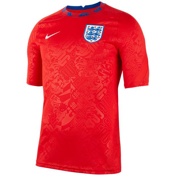 イングランド代表 半袖プレマッチトップ  cd2577-600 チャレンジレッド