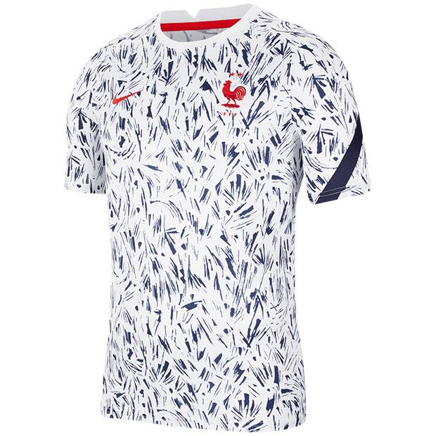 フランス代表 半袖プレマッチトップ  cd2578-100 ホワイト