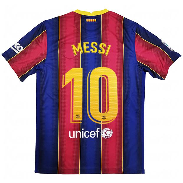 FCバルセロナ 20-21 ホーム 半袖レプリカユニフォーム  cd4232-456-10-m 10.メッシ