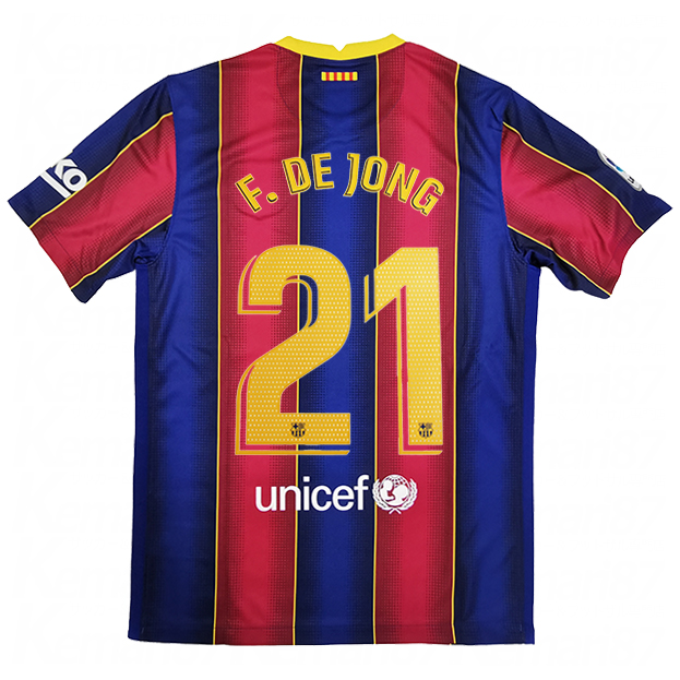 FCバルセロナ 20-21 ホーム 半袖レプリカユニフォーム  cd4232-456-21-f 21.デ・ヨング