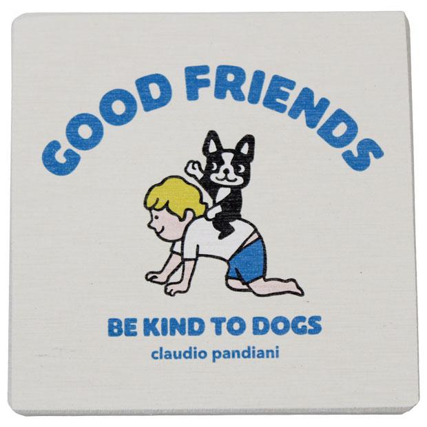 GOOD FRIENDS 2 珪藻土コースター  cp21466