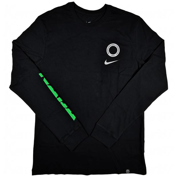 ナイジェリア代表 ヴォイス 長袖Tシャツ  ct1943-010 ブラック
