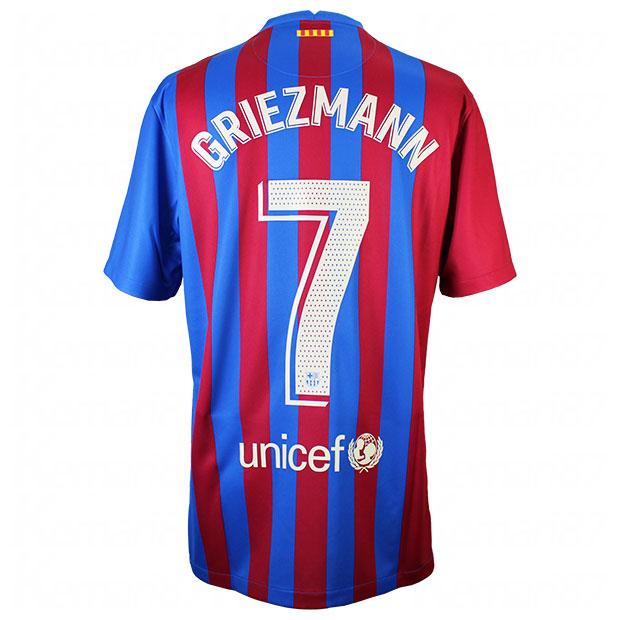 FCバルセロナ 21-22 ホーム 半袖レプリカユニフォーム 7.グリーズマン cv7891-428-7-g